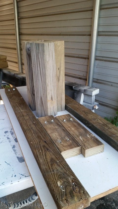 reclaimed wood coffee table parts