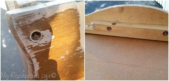 remove bottom trim of chest or dresser