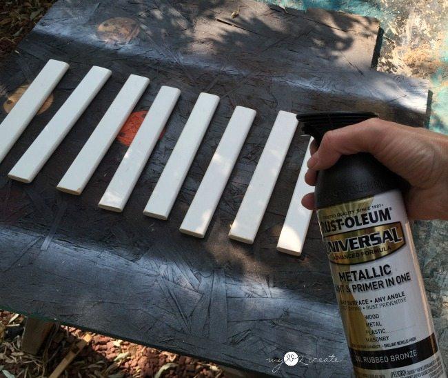 spray painting crib slats