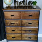 Modified Dresser | Navy and dark stain
