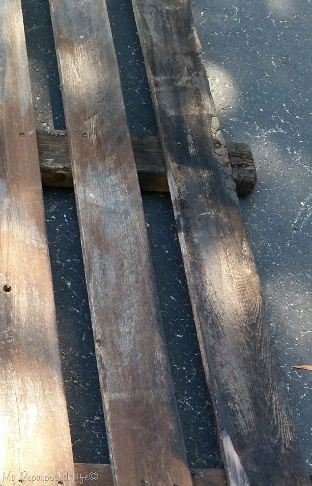 picked picket fence off burn pile