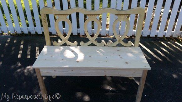 dry fit fancy twin headboard bench