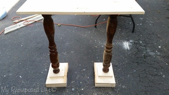 dry fit of table base