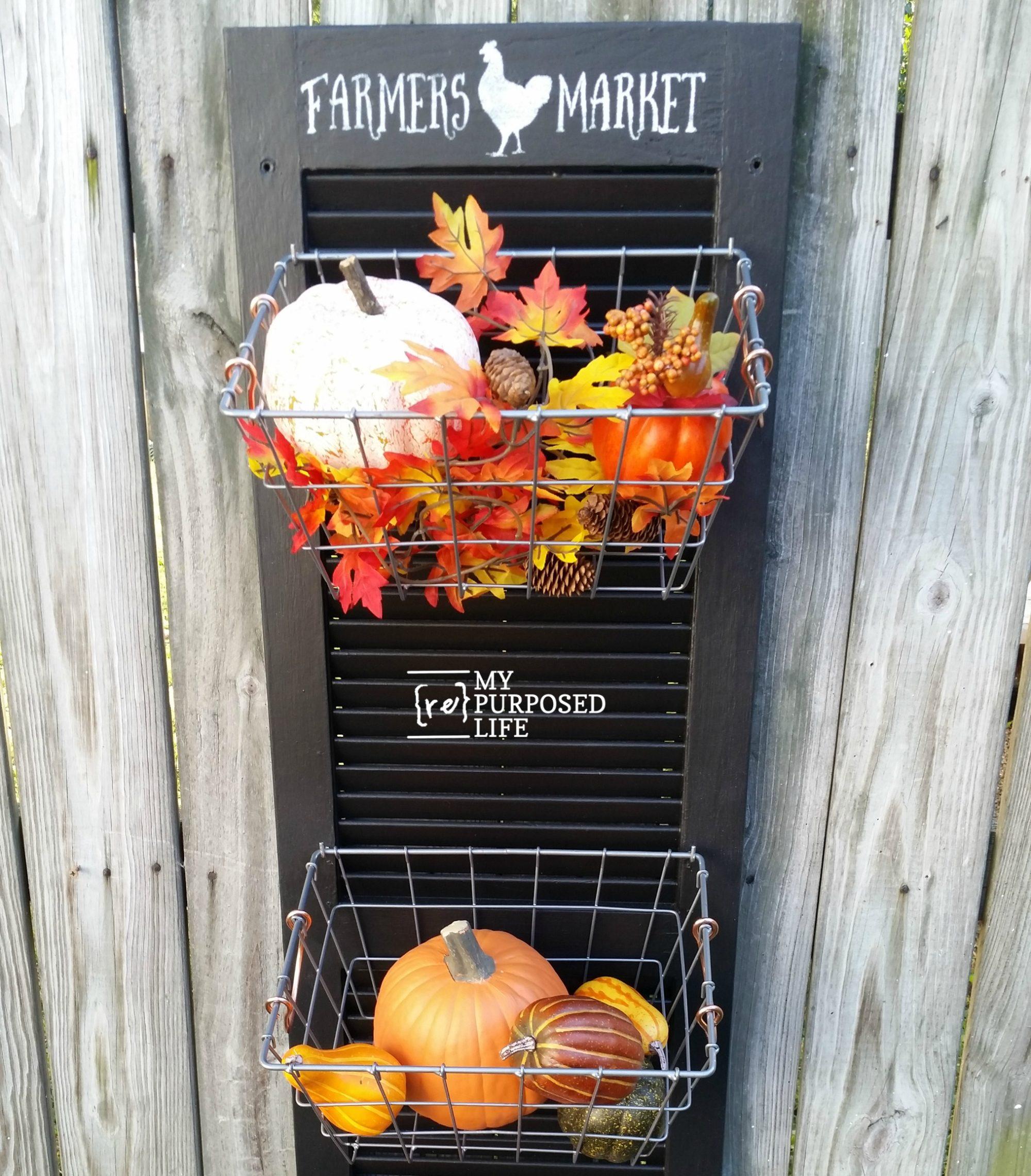 Repurposed chair ideas my repurposed life - Farmer S Market Hanging Produce Bin