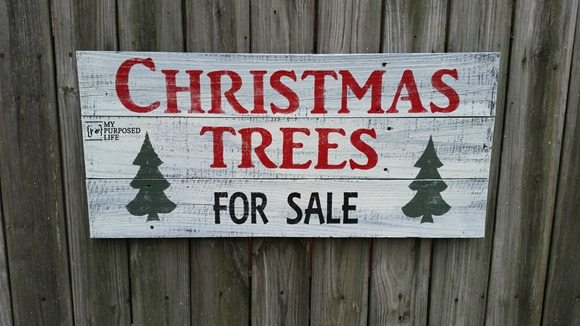 joanna gaines christmas trees for sale sign myrepurposedlifecom - Christmas Trees Sale