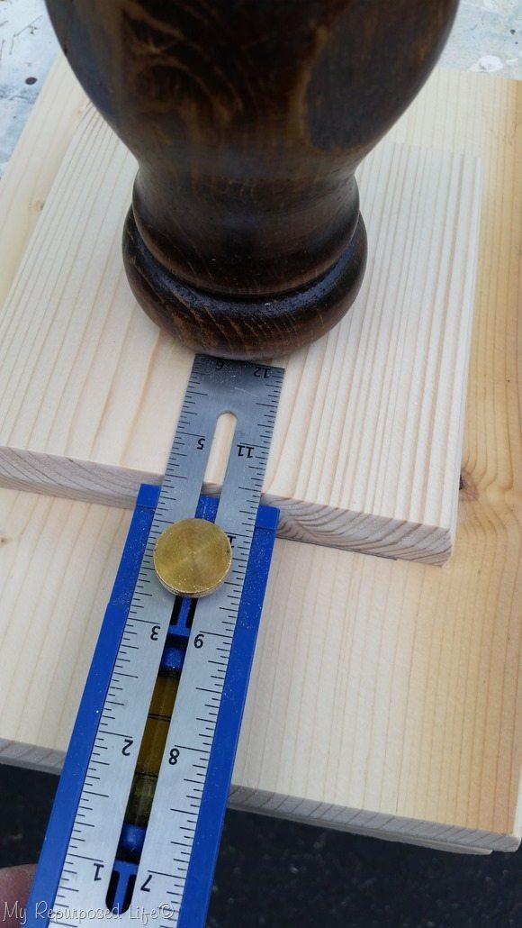 measure for pedestal