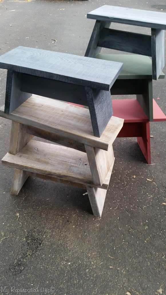more small benches and stools