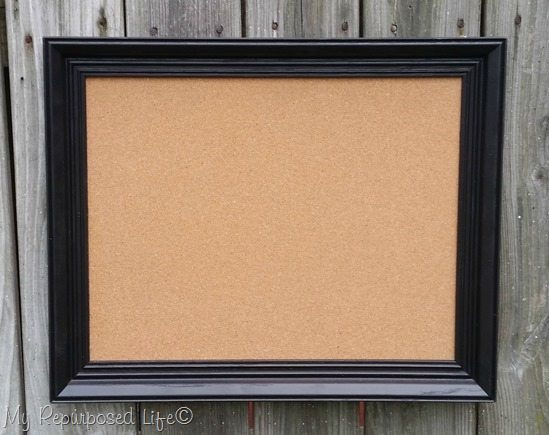 old frame new cork board MyRepurposedLife.com