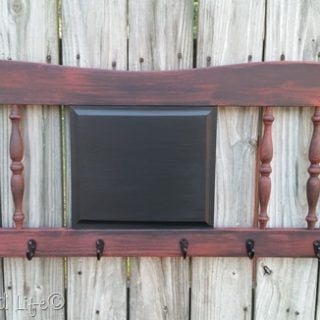 red headboard coffee cup rack