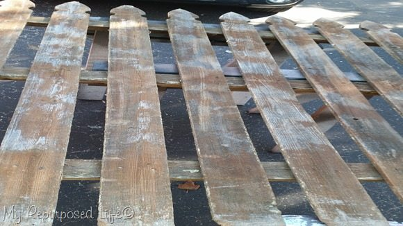 rustic picket fence section