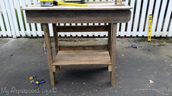 salvaged wood outdoor bar kitchen island
