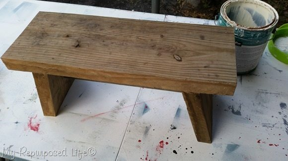small reclaimed wood simple bench
