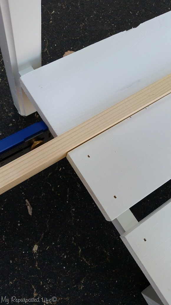 spacing shelf slats