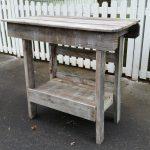 salvaged wood outdoor bar | kitchen island