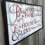 Rustic Sign | Bless The Food Before Us