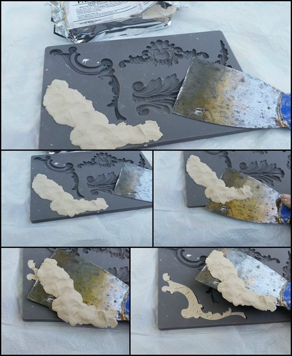 IOD paper clay molds