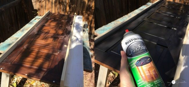 using chalkboard spray paint
