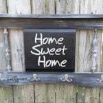 Distressed Chalkboard Headboard Coat Rack