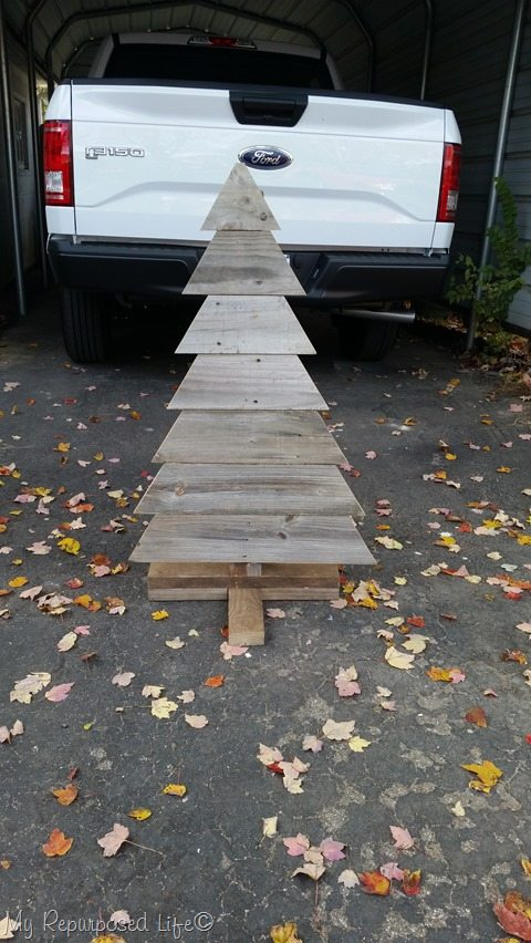 dry fit for rustic Christmas tree