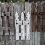Picket Fence Whitewash Coat Rack