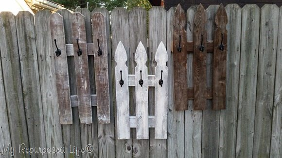 Picket Fence Whitewash Coat Rack My Repurposed Life 174
