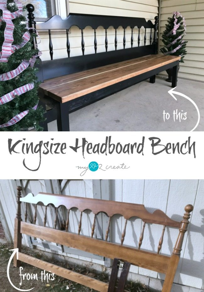 How to build a kingsize headboard bench