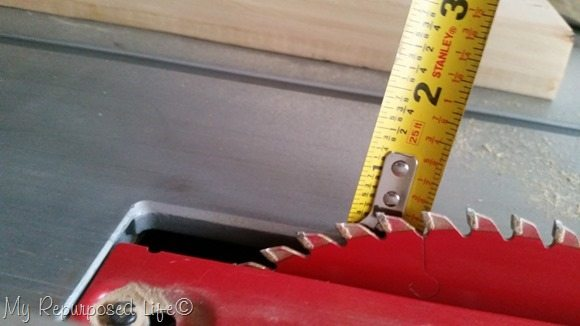 angled table saw blade
