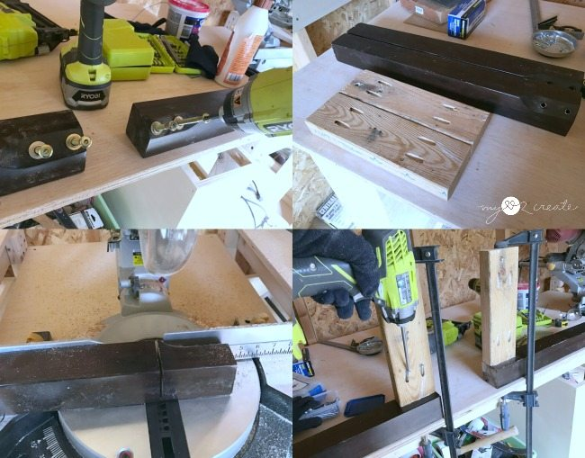 cutting legs and side aprons for headboard bench