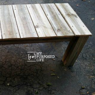 reclaimed wood coffee table