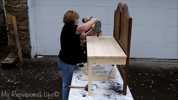 secure planks with nail gun