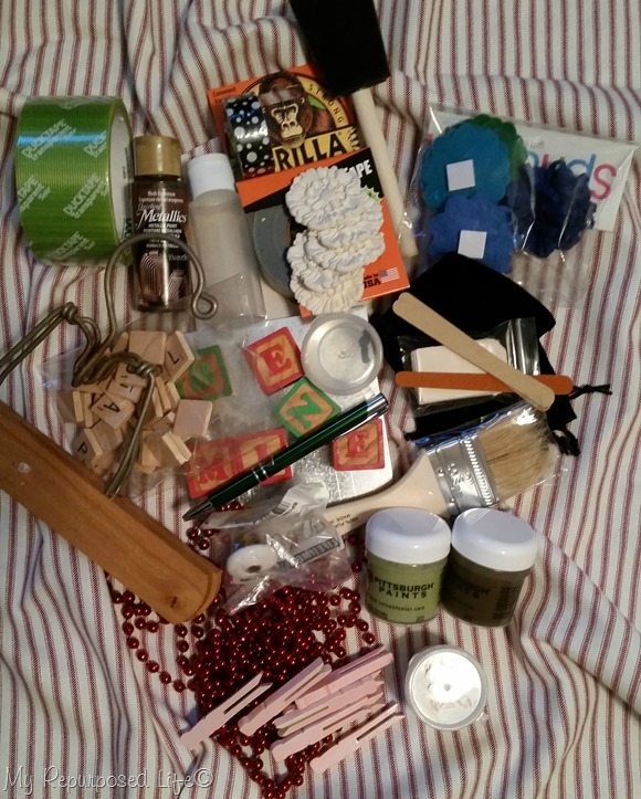 be mine box of craft stuff