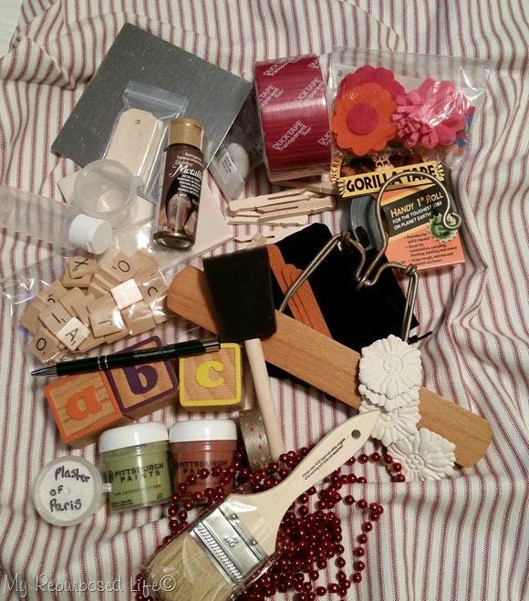 abc box of craft stuff