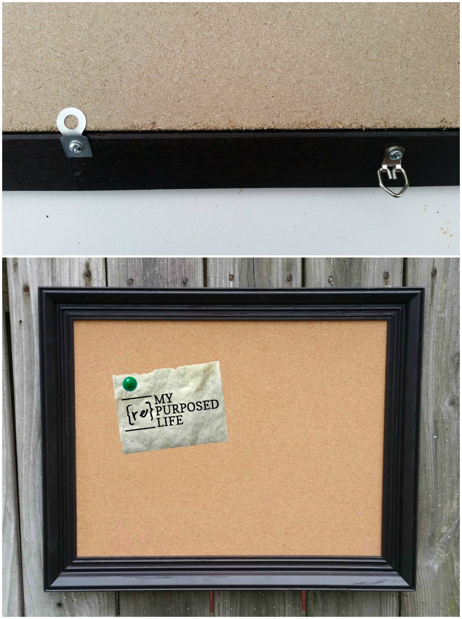 Picture Frame Corkboard - My Repurposed Life®