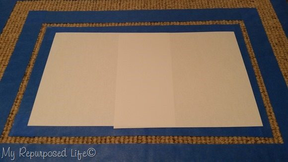 cover painted rug center with paper