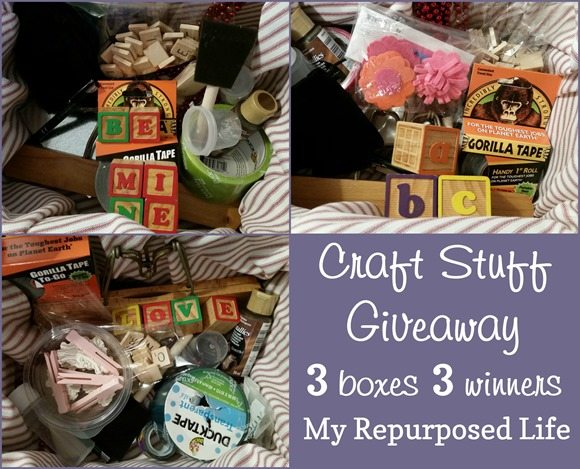 craft stuff giveaway 3 boxes 3 winners MyRepurposedLife.om
