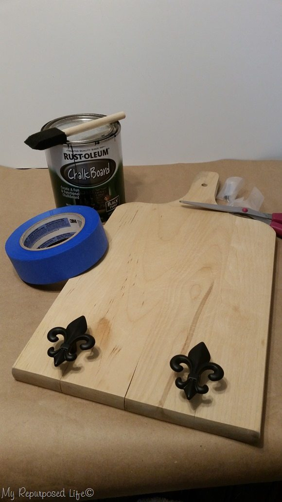 design plan for cutting board key rack