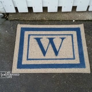 easy Spray Paint Welcome Mat