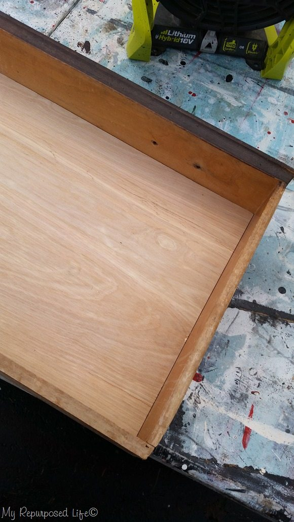 extra bottom added to drawer