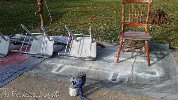 oak chairs paint sprayer Finish Max