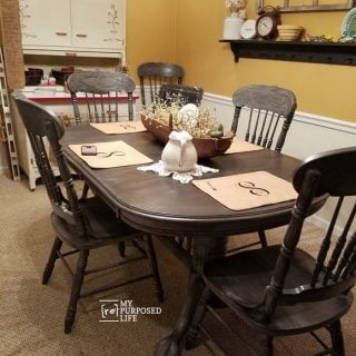 Double Pedestal Oak Table and Chairs