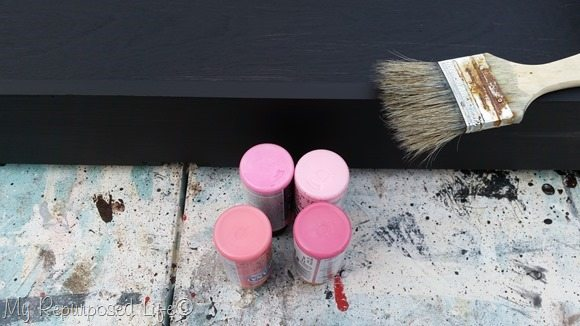 pink craft paint