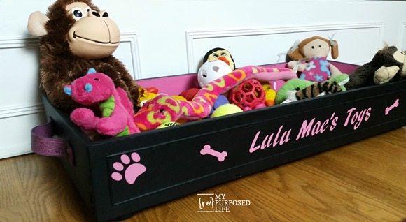 repurposed drawer toy box dog bed MyRepurposedLife.com