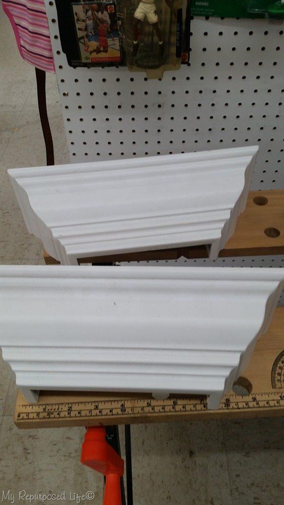 small white shelves