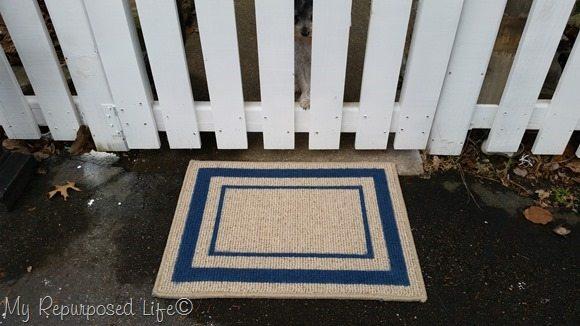 spray painted door mat