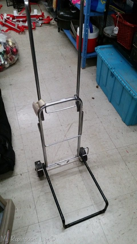 vintage luggage cart