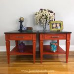 vintage painted tables with stain