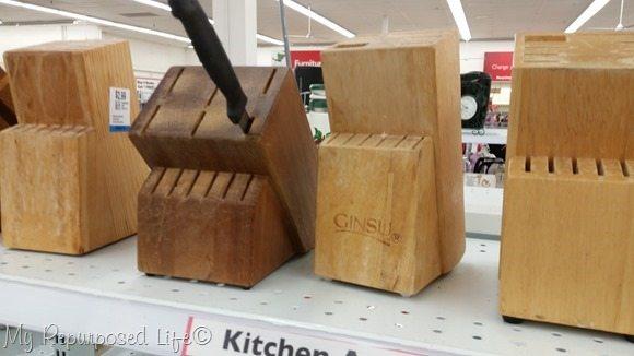 wooden knife blocks