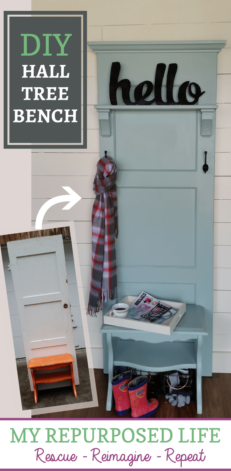 Hall Tree Bench Diy My Repurposed Life Rescue Re Imagine Repeat