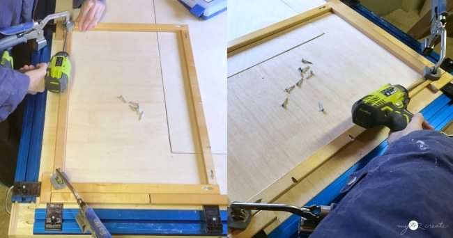 attaching crib rails with pocket hole screws