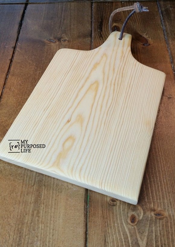 cut your own diy cutting board out with a jigsaw MyRepurposedLife.com
